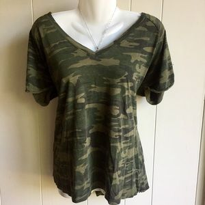 Camouflage V-Neck Tee